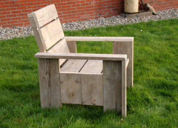 steigerhouten relax stoel swadde